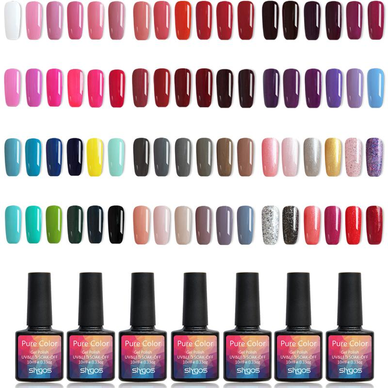 1pcs 10ml SLYGOS Soak Off UV / LED Nail Gel Polish 60 couleurs à ongles de gel UV Durcissement Laques