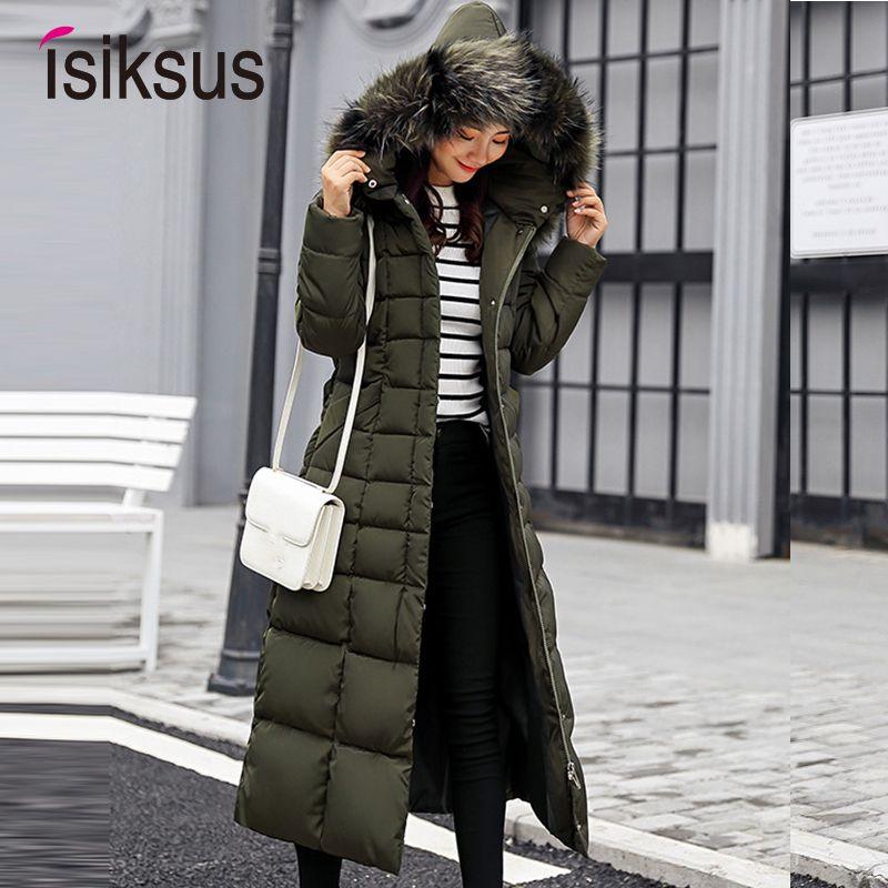 Chaquetas acolchadas acolchadas Isiksus para mujer Chaqueta de abrigo de piel con capucha acolchada negra de talla grande para mujer 2018 Parkas para mujer Wp013 Y190828