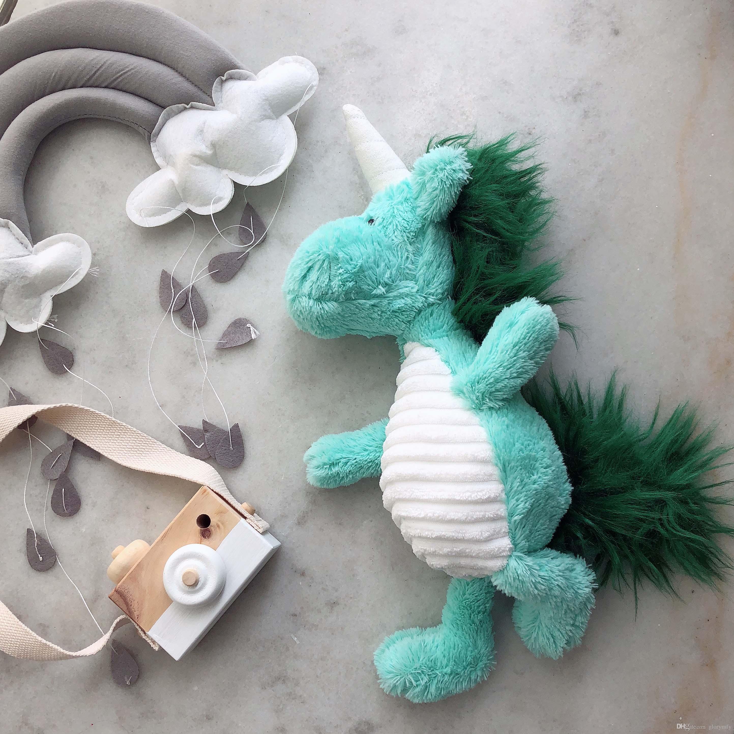 İskandinav rüzgar küçük taze nane yeşil unicorn bebek kız kalp peluş oyuncak Süs ucuz oyuncaklar çocuk Oyuncakları doğum günü bebek kız hediye dekorasyon