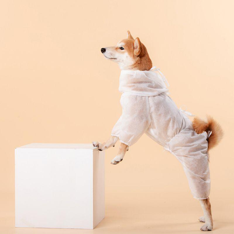 Perro que recorre mascotas ventilatoria protectora Ropa para exteriores parada bacterias ropa para perros a prueba de polvo del traje de Equipo de Protección para mascotas