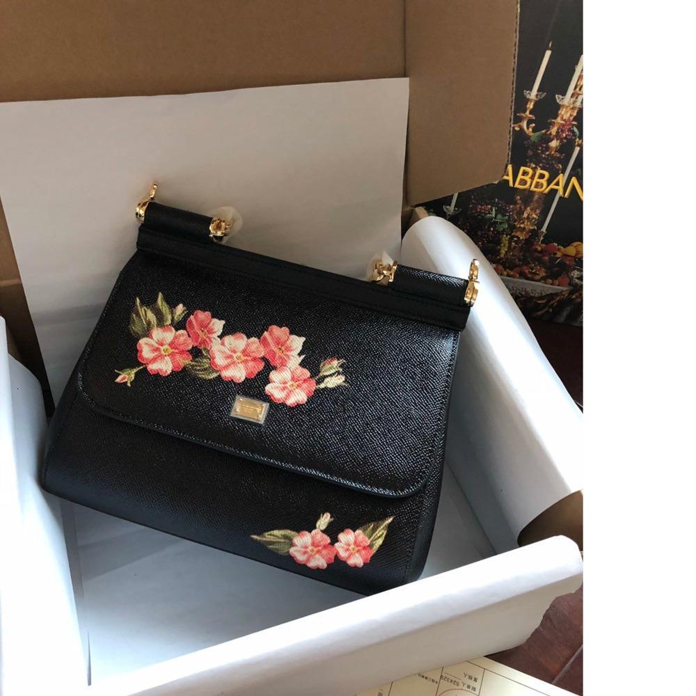 Frauentasche 2019 neue Handtasche Größe 25 * 20 * 12cm exquisite Geschenk-Box WSJ007 # 1101046 jj66