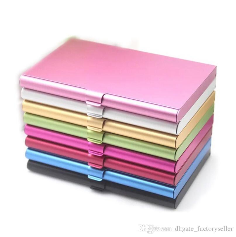 Держатель сплавовой карты Slim Package Business Case Box ID Card Business ID Держатели кредитных карт LX6122