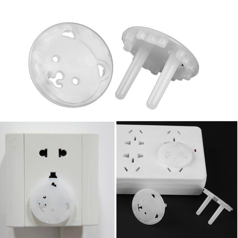 La copertura della protezione Spine Anti sicurezza 20pcs / Set Orso di UE Socket Presa di protezione di copertura Bambini scossa elettrica