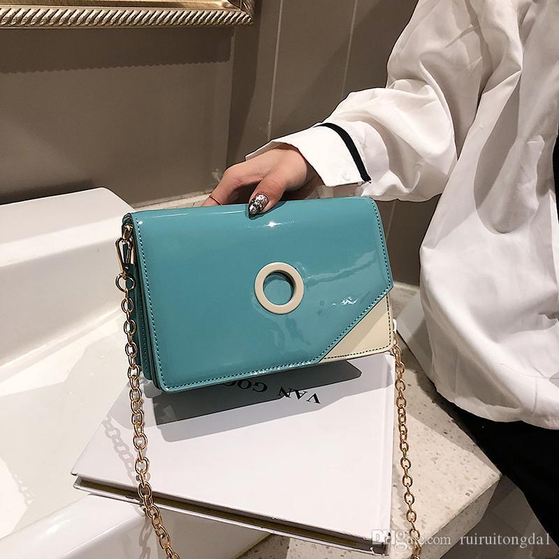 2019 Moda bayanlar zincir küçük çanta Messenger çanta omuz moda PU deri bayanlar Messenger çanta hongri / 3