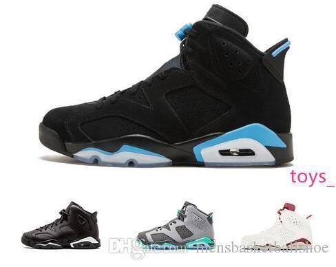 2019 nouvelles chaussures de basket-ball 6 hommes de basket-ball unc Université Chaussures Bleu 6S chat noir de blé noir bleu sport Angrybull sneakers athlétisme