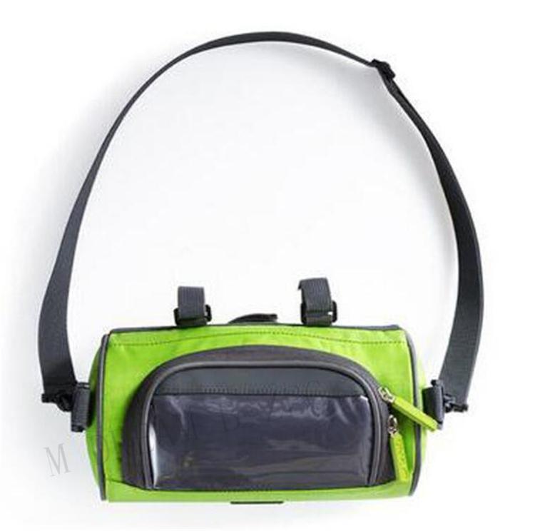 Xian Ju Sacoche de Guidon de v/élo 6l pour v/élo Bande r/éfl/échissante et /écran Tactile en PVC Sacoche de Cadre Avant de Panier de v/élo /étanche avec 2 Poches en Filet
