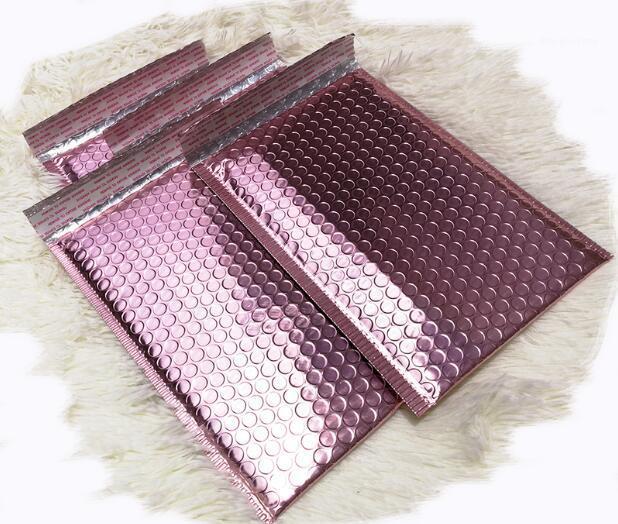 Bolha Rose Gold Envolva Metallic Rose Gold Foil Mailer de bolha por Dom embalagens, favor do casamento Bag gratuito Shipping1