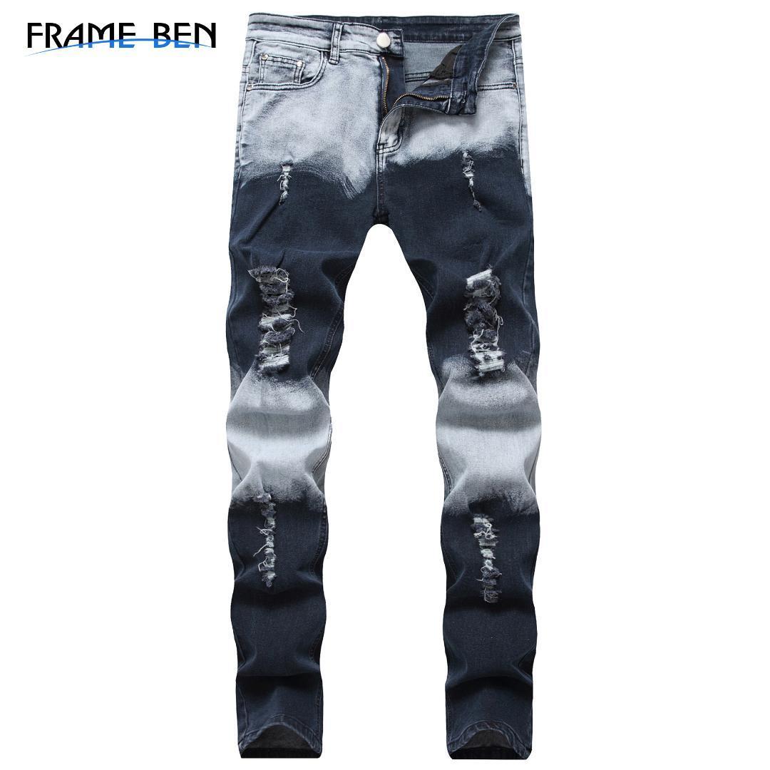 BEN pantalon en denim pour hommes pantalons 2019 New Fashion Jeans Slim Patch Casual hommes Dropshipping jeans hommes
