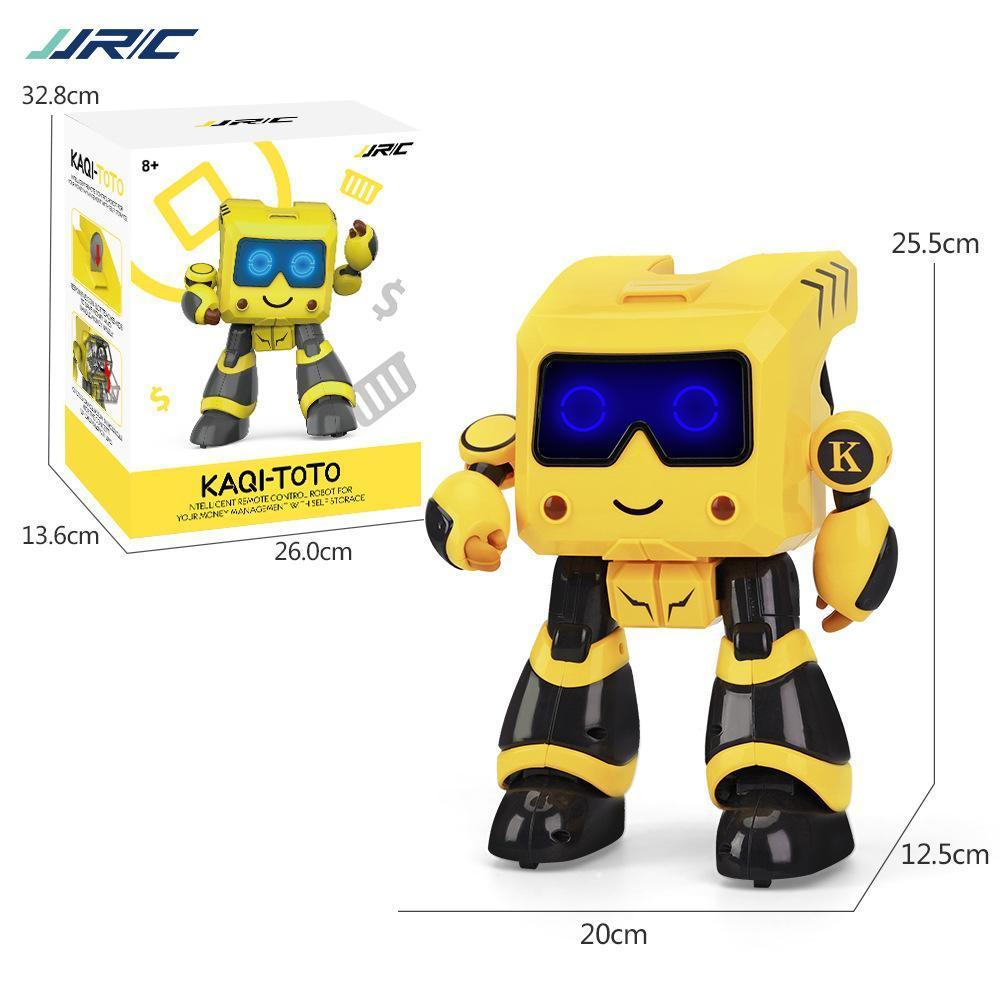 YDJ-K17 Intelligent Programming RC Robot Toy, Money-box, Storage Management, Touch Sensing, Sing Lights Dance& Tell Story, Kid Birthday Gift