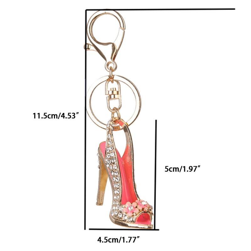 Rhinestone Key Chain High Heel Shoe Chain for Car Purse Bag Key Ring keychain Charm Gift