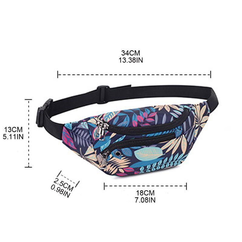 Women Printed Pattern Waist Fanny Pack Belt Bag Travel Hip Bum Chest Phone Pouch X7XC