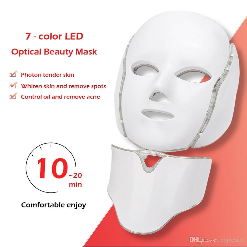 7 Couleurs LED Photon Corée Du Visage LED Lumière Masque Thérapie / Pdt LED Visage Masque Thérapie