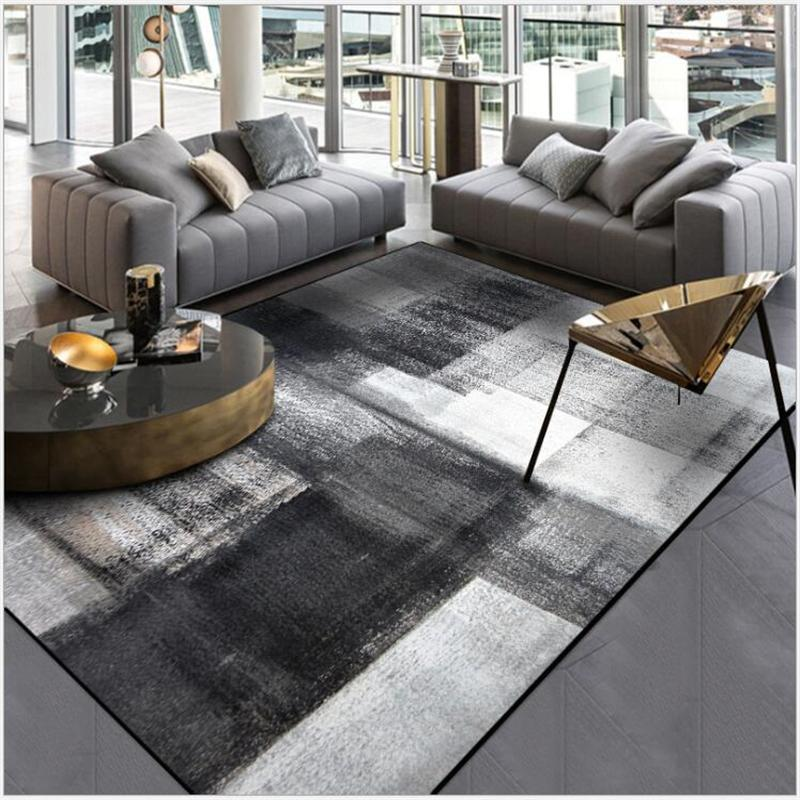 AOVOLL Simple Modern Abstract Chinese Ink Black Gray Carpet Bedroom Kitchen  Door Mat Living Room Floor Mat Carpet Rug Bedroom Frieze Carpet Prices ...