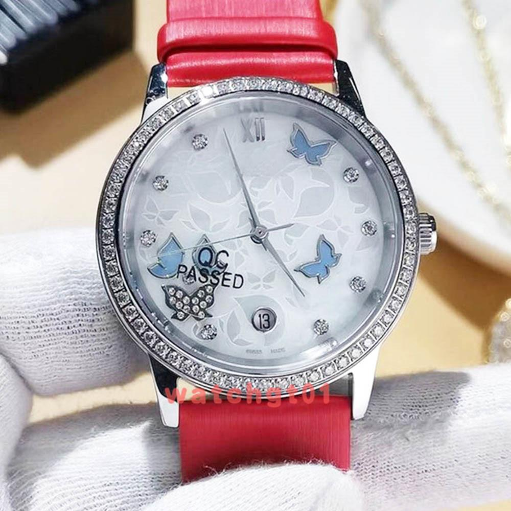Роскошные женские часы женщины Сапфир 36,8 мм золото De Ville Icedout Co-xial механизм с автоподзаводом механические Dimond Ladys подарок 007 часы Часы