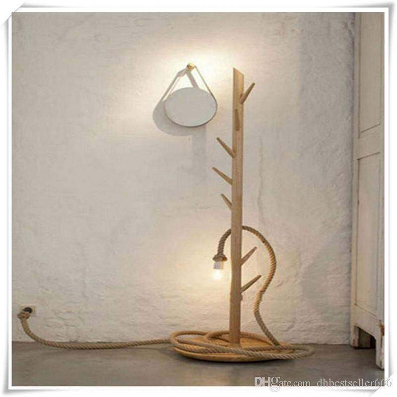 Ceiling Chandelier Wiring Creative Hanging Lights Wiring Vintage Rustic Hemp Rope for Living Room Bar Public Places Fashion Decor