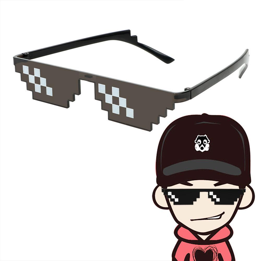 Durable 8 Bit Sunglasses Thug Life Party Eyeglasses Mosaic Glasses Uv400 New