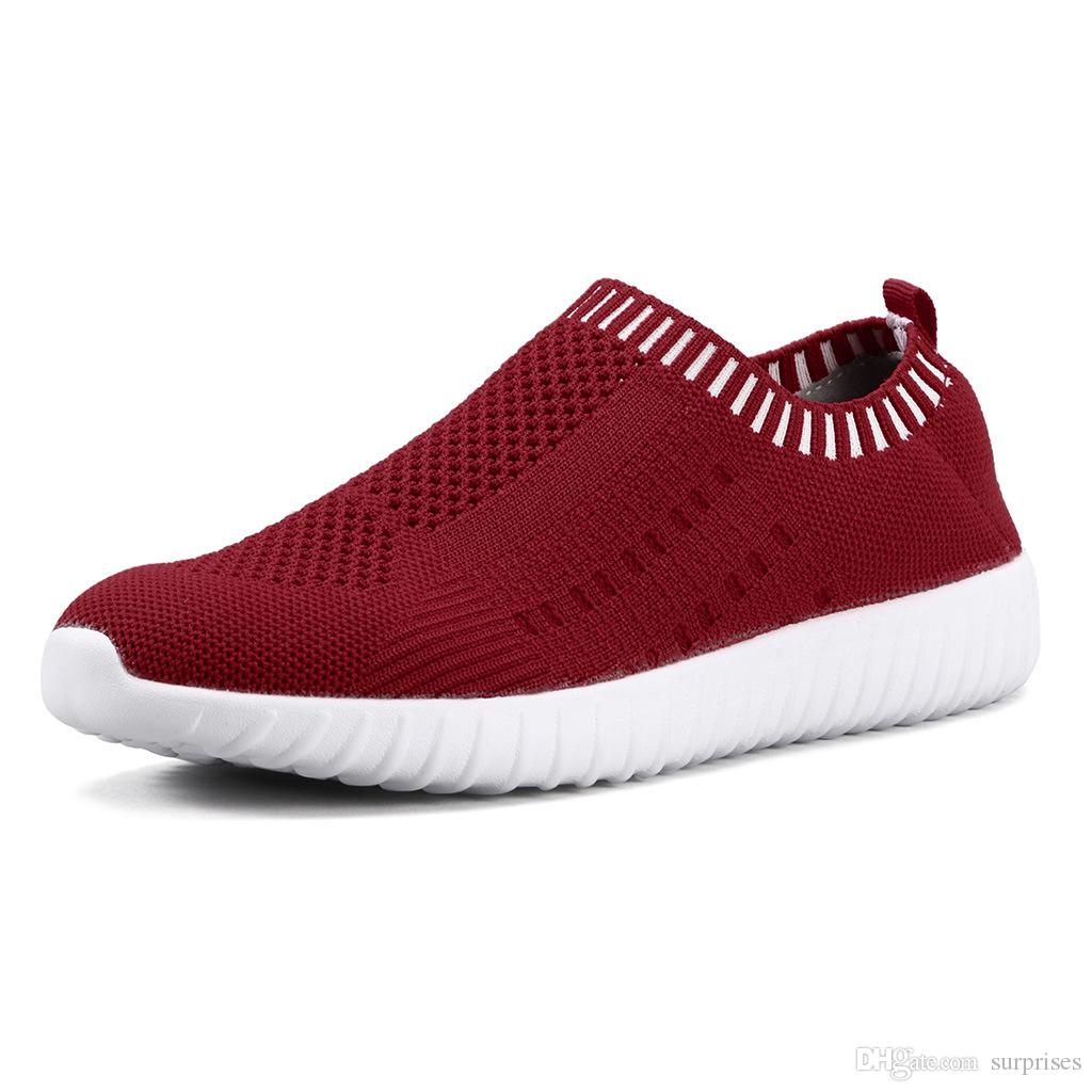 New Best selling large size women's shoes flying woven sneakers one foot breathable lightweight casual sports running shoes twenty-three