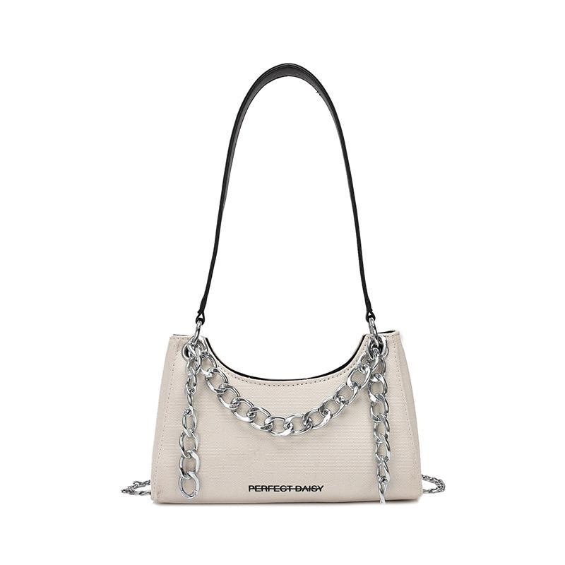 Lona de las mujeres bolsas de cuero de cadena cruzado del cuerpo bolsos de las señoras del hombro bolsas de alta calidad de las mujeres bolsos Liangpin // 8