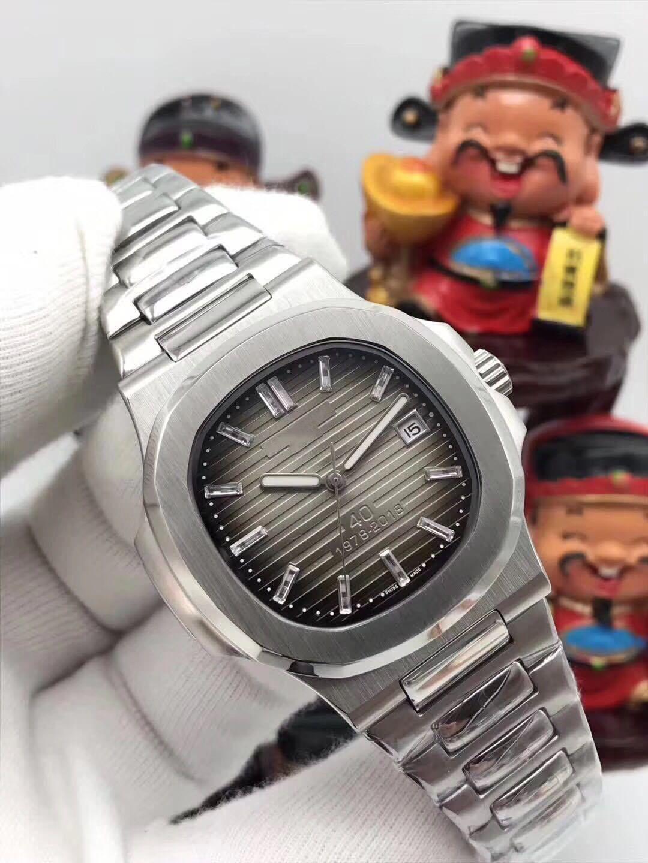 High-end serie nautilus maschile fascia alta orologi meccanici, serie nautilus fascia alta orologi automatici degli uomini 3A lusso, 40 mm mech