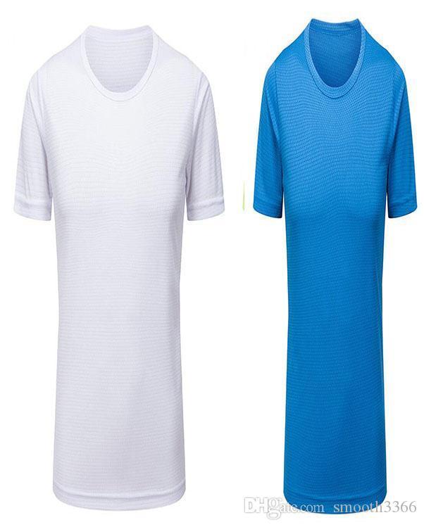 1064 conditionnement physique ajusté serré des hommes de vêtements blancs-gris en cours d'exécution à manches courtes stretch sportswear vêtements à séchage rapide T-shirt