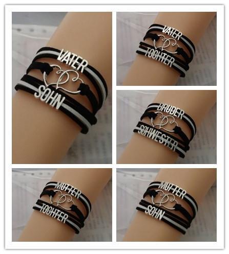 Unendlichkeits-Liebes-Mutter-Tochter-Armband Mutter-Liebes-Sohn-Armband Heißer Verkauf Mutter-Armband-kundenspezifisches Armband