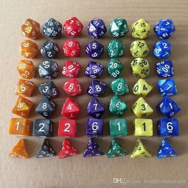 D4-D20 Multi Side Dice TRPG Game Dice For Entertainment Game 7Pcs/Set Durable Dice Set Party Bar Club Accessory Acrylic Dices M514Y