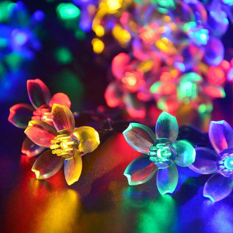크리스마스 / 파티 장식 장미 꽃 LED 문자열 조명 배터리 발렌타인 웨딩 장식 크리스마스 휴일 조명을 운영
