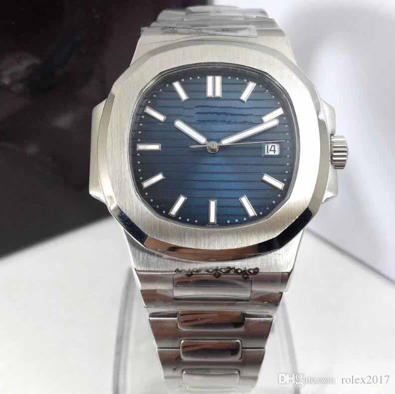 Mens luxury Limited Edition Date 40mm Blue dial Japan 9015 Men Date Eta 5711 Dive Crystal Swiss Dive Basel world Watches