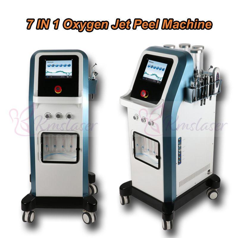 Protable tecnología 7 en 1 Israel 8 bar exfoliante de chorro de oxígeno agua dermoabrasión hidra microcorriente facial hidradermabrasión inyector de oxígeno spa ma