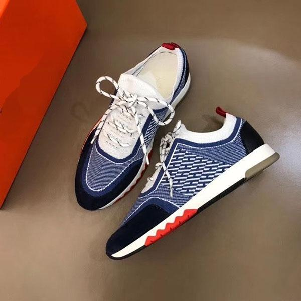 Hermes 2020 nouvelles chaussures de sport H haut casual chaussures plates des hommes de mode confortables chaussures en cuir de vache haut-top RD mnb02