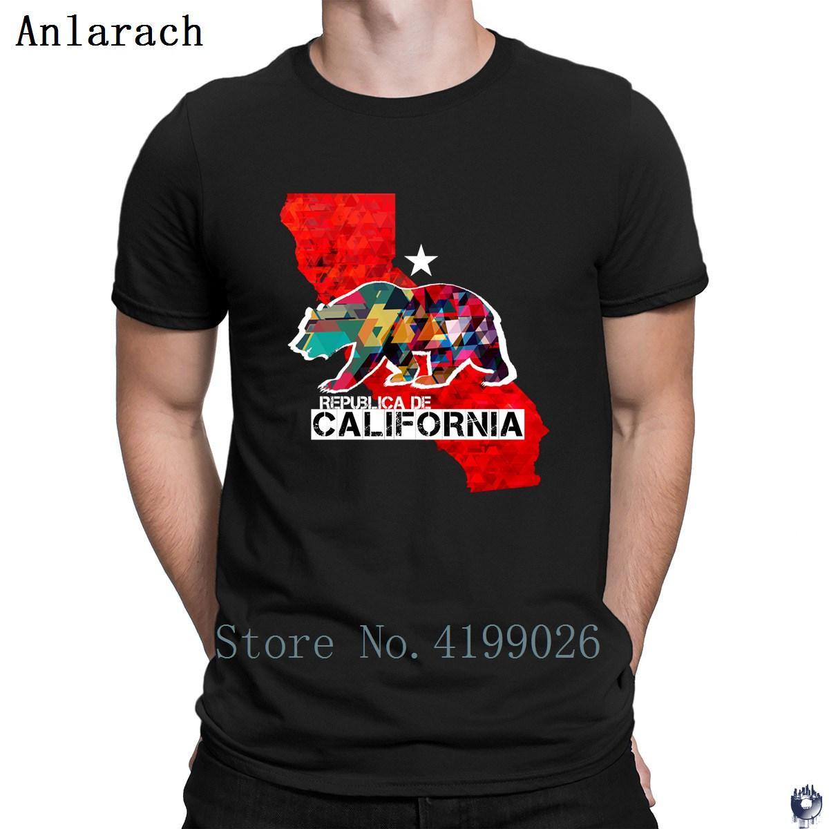 Republica de Califórnia camisetas Design camisa do pescoço de grupo Roupa Nova Estilo t para homens Top Quality magro famosos 2018