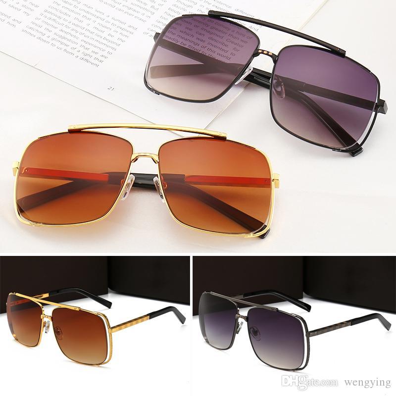 Защита Продажа мужчин Пилот Солнцезащитные очки Простой популярный Топ с качеством Стиль Очки Box UV400 Новый дизайнер для оригинальной моды мы Aeagoi