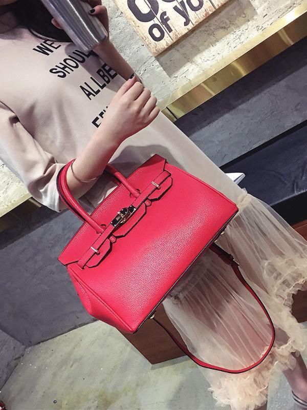 Simple Women's Fashion Handbag Shoulder Bag Elegant Charm Messenger Bag Sweet Girly Style Casual