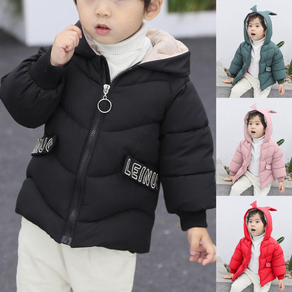 Fashion Kids Coat Boys Girls Thick Coat Padded Winter Jacket Clothes
