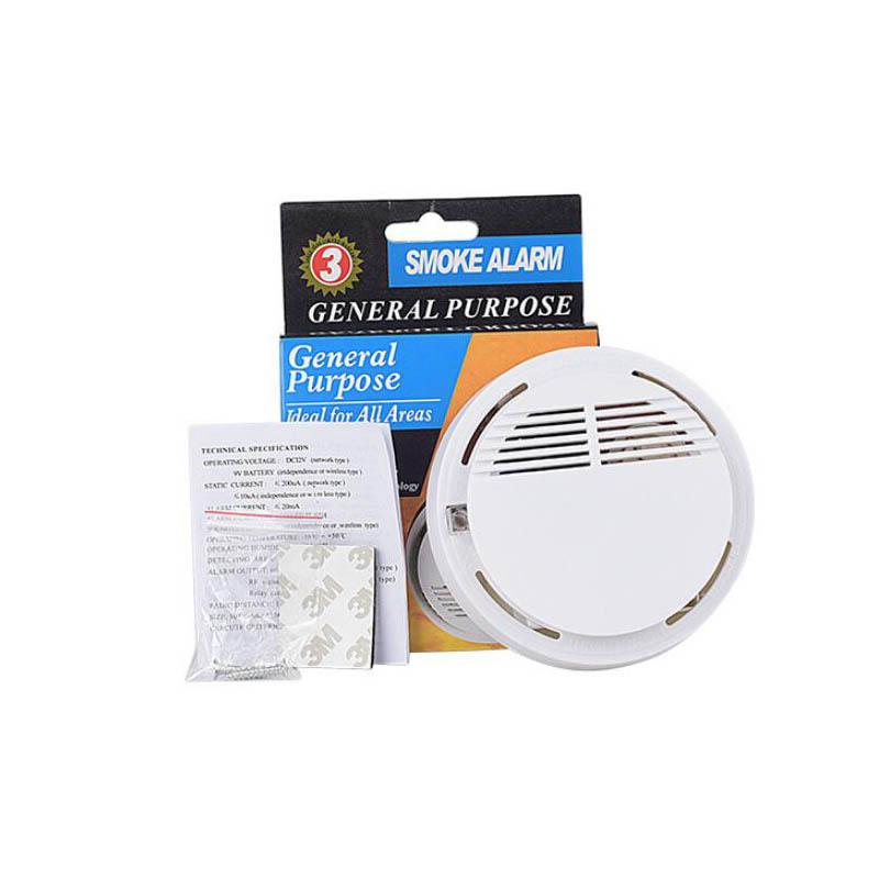 Smoke Detector Alarms System Sensor Fire Alarm Detached Wireless Detectors Home Security High Sensitivity Stable LED 85DB 9V Battery 200pcs