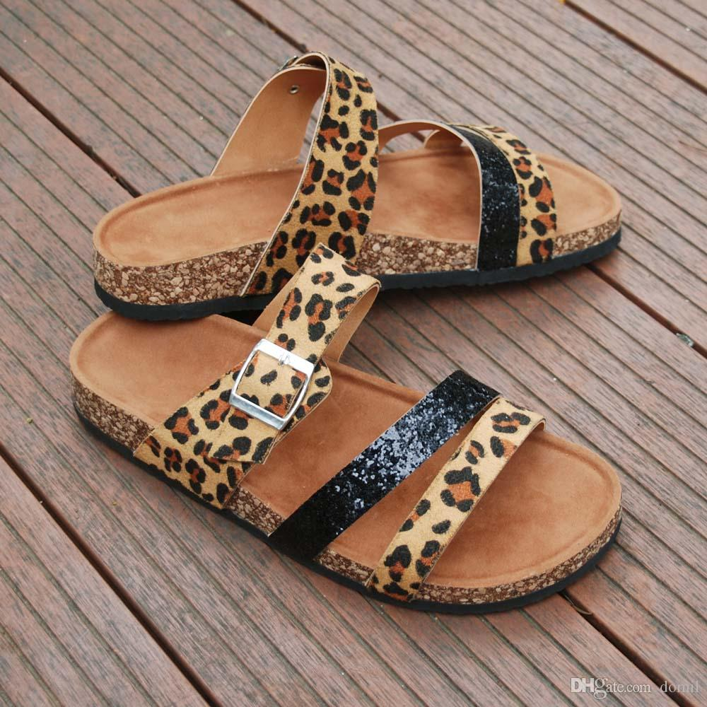 Flat Leopard Sandals With Soft Suede