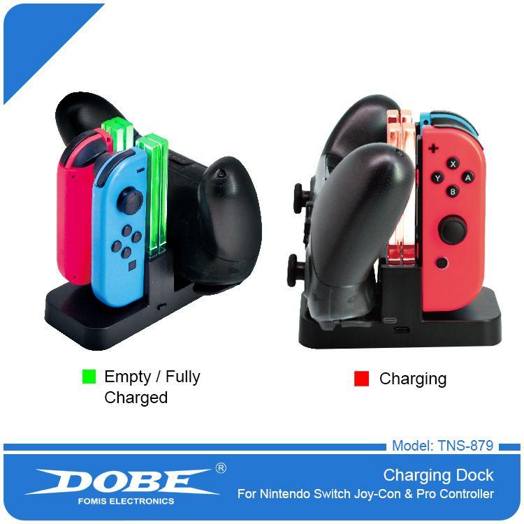 Şarj dock için Nintend Anahtarı Denetleyicisi 4 in1LED Şarj için Nintendo Anahtarı Gamepad Şarj Joy-CONPRO NS Geçişler İçin Standı