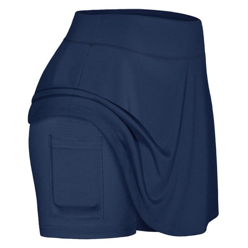 2020 Deportes Tenis Yoga Skorts la aptitud de la falda corta de bádminton transpirable de secado rápido deporte de las mujeres contra la exposición falda de tenis # 4