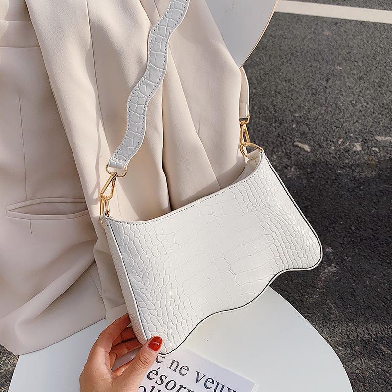Forma púrpura de la vendimia cocodrilo Baguette del bolso de cuero de lujo del bolso de 2020 nuevo de la manera del bolso de hombro para mujer del mensajero de Crossbody Bolsas