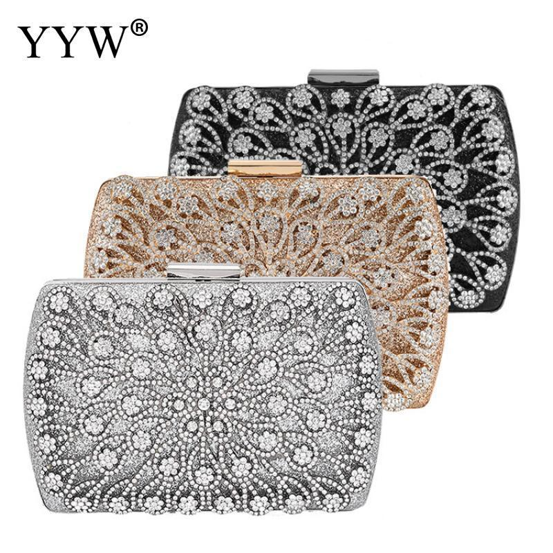 Lady Diamond Wedding Evening Women Clutch Round Bag Fashion Purses And Handbags Crossbody Party Shoulder Bags Gold Silver Black Y200520