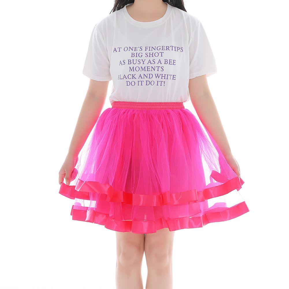 Lo nuevo adulto del partido de las muchachas de las mujeres de la enagua de la princesa Streamer Tulle del acoplamiento del tutú de la falda de Pettiskirt
