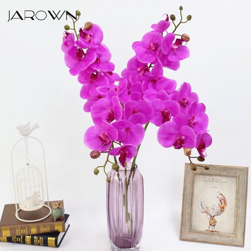 Искусственный цветок орхидеи 4 цвета Реальная сенсорная Искусственные бабочки орхидея Flores искусственных Свадебные украшения домашнего декор Фестиваль CJ191223
