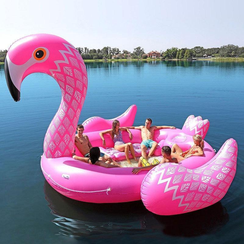 5m enorme inflável unicórnio flamingo pool flamingo flamingo yacht natação flutuar salão de verão pool de verão para festa grande piscina de natação para 6 pessoas