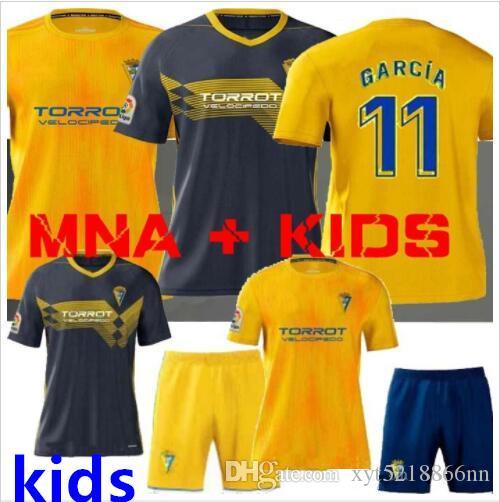 MAN + KIDS 19 20 قمصان كرة القدم Cadiz 2019 2020 home home camisetas de fútbol Fernández Jovanovic Carmona Garrido Akapo قمصان كرة القدم