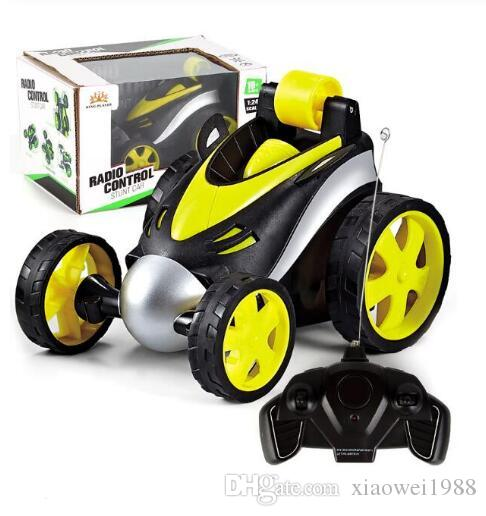 Wireless RC Car Tumbling Stunt Dump Truck Remote Control Toys For Children Electric Cool RC Cars Boy Birthday best Gifts kids toys