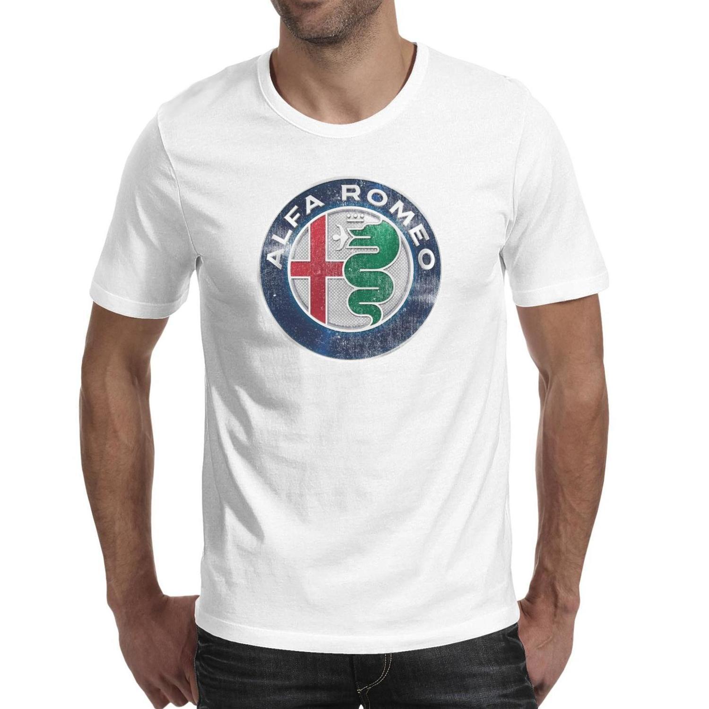 قمصان رجالي الفا روميو سيارة رياضية جوليا سيارات الدفع الرباعي أزياء تي شيرت تصميم مجنون القطن صالح سليم تيز خمر العلم الاميركي القديم قصيرة الأكمام