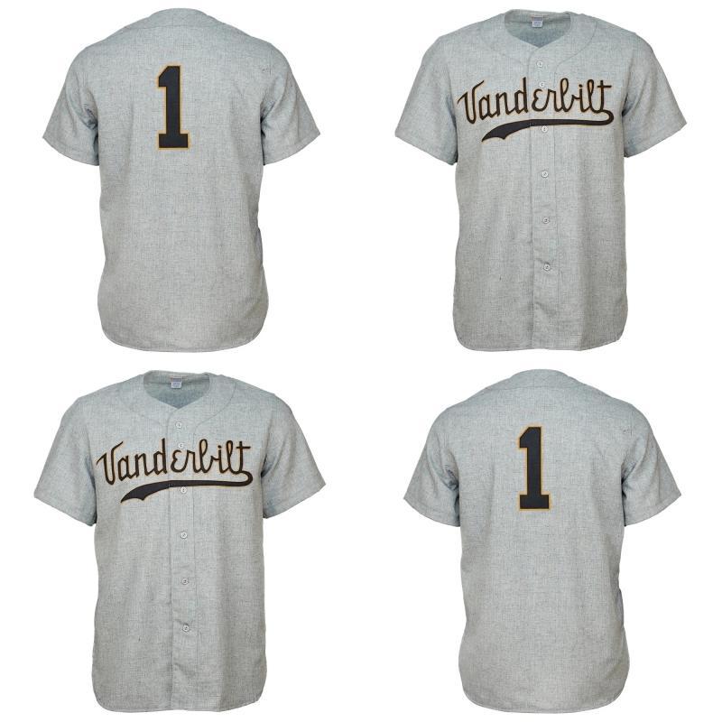 Vu Vanderbilt Commodores 1960 Camisa de Jersey Camisa Personalizado Homens Mulheres Juventude Jerseys de Beisebol Qualquer Nome e Número Dupla Costura
