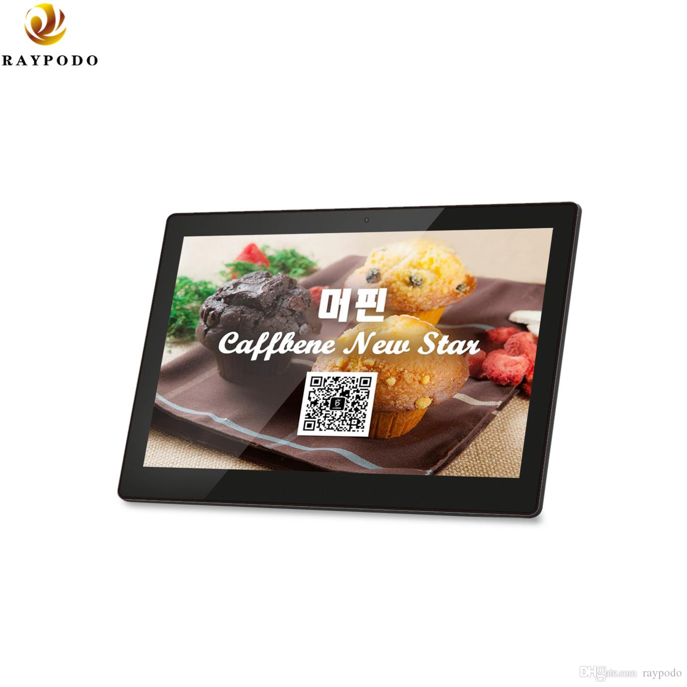 Raypodo Wall mount Android 8.1 POE tablet 10 inch with touch screen high resolution 1280*800