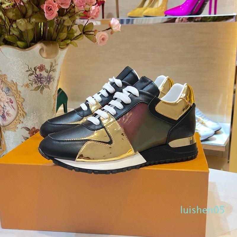 las mujeres del diseñador de moda de lujo zapatos clásicos de la presbicia con cordones ocasional de los zapatos corrientes de color camuflaje diseñador de calzado transpirable AF03