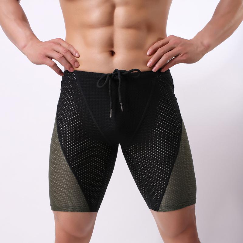 Summer Beach Compression Shorts de Men emendado Curto Leggings Corredores de secagem rápida magro de Fitness Shorts Homens Y200511